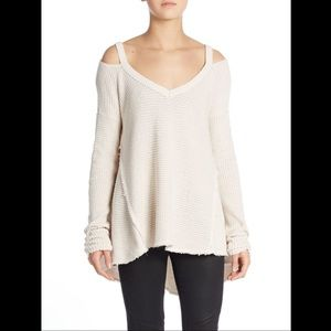 Free People Moonshine Cold Shoulder Sweater